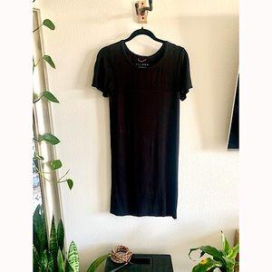 Hatch Maternity Layers Black T-Shirt Dress